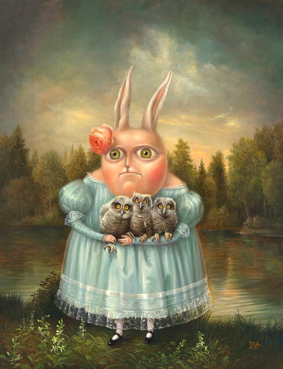 Irena Aizen - Owl-fancier. Fine Art Prints