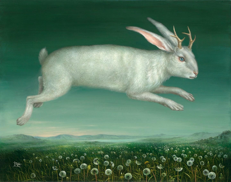 Irena Aizen - Flying Jackalope. Fine Art Prints