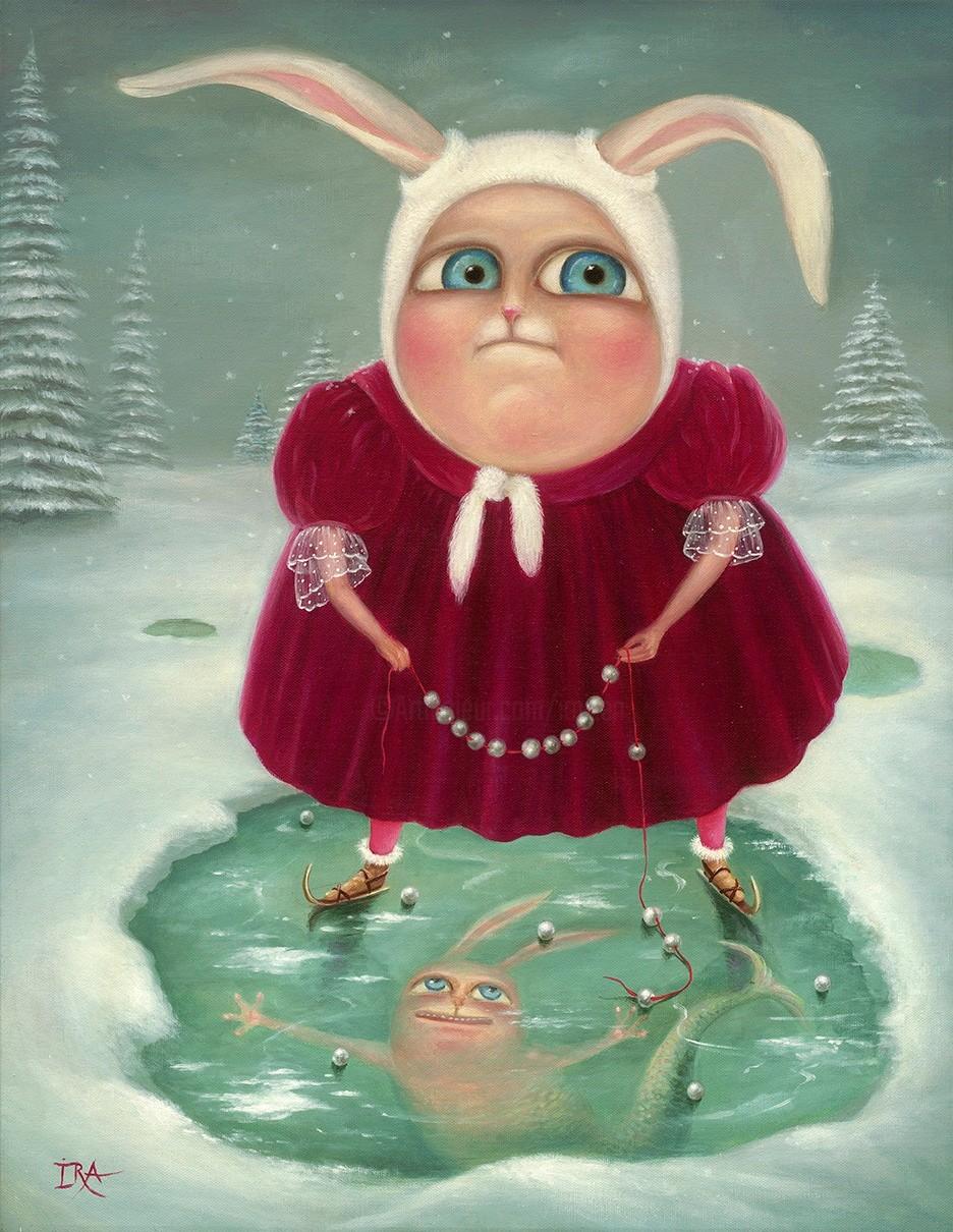 Irena Aizen - Winter Mermaid. Fine Art Prints