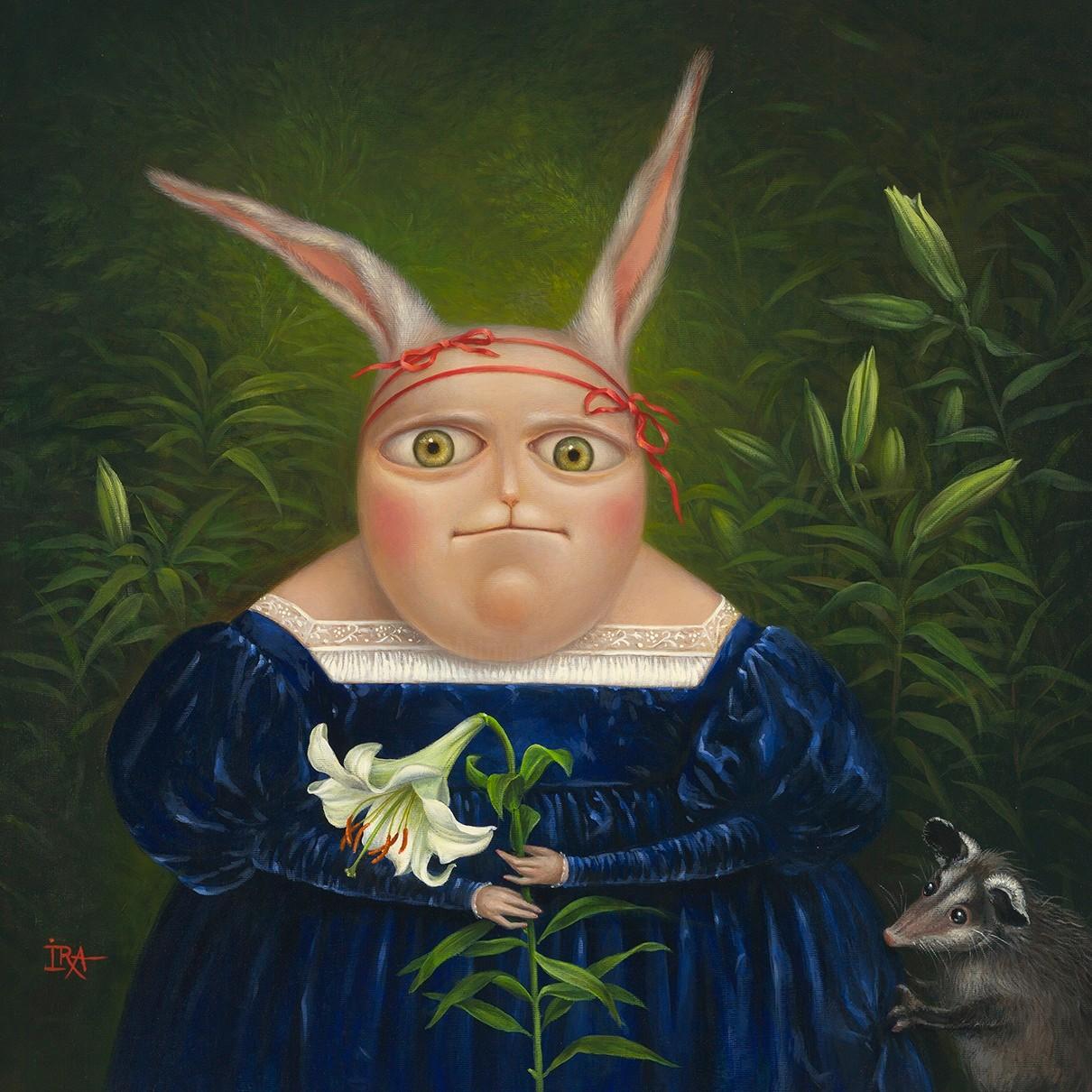 Irena Aizen - Portrait with Lily. Fine Art Prints