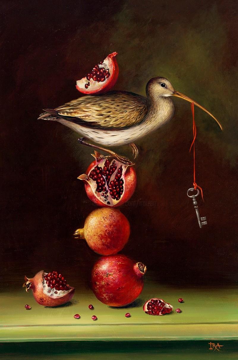 Irena Aizen - Pyramid with Pomegranates. Fine Art Prints