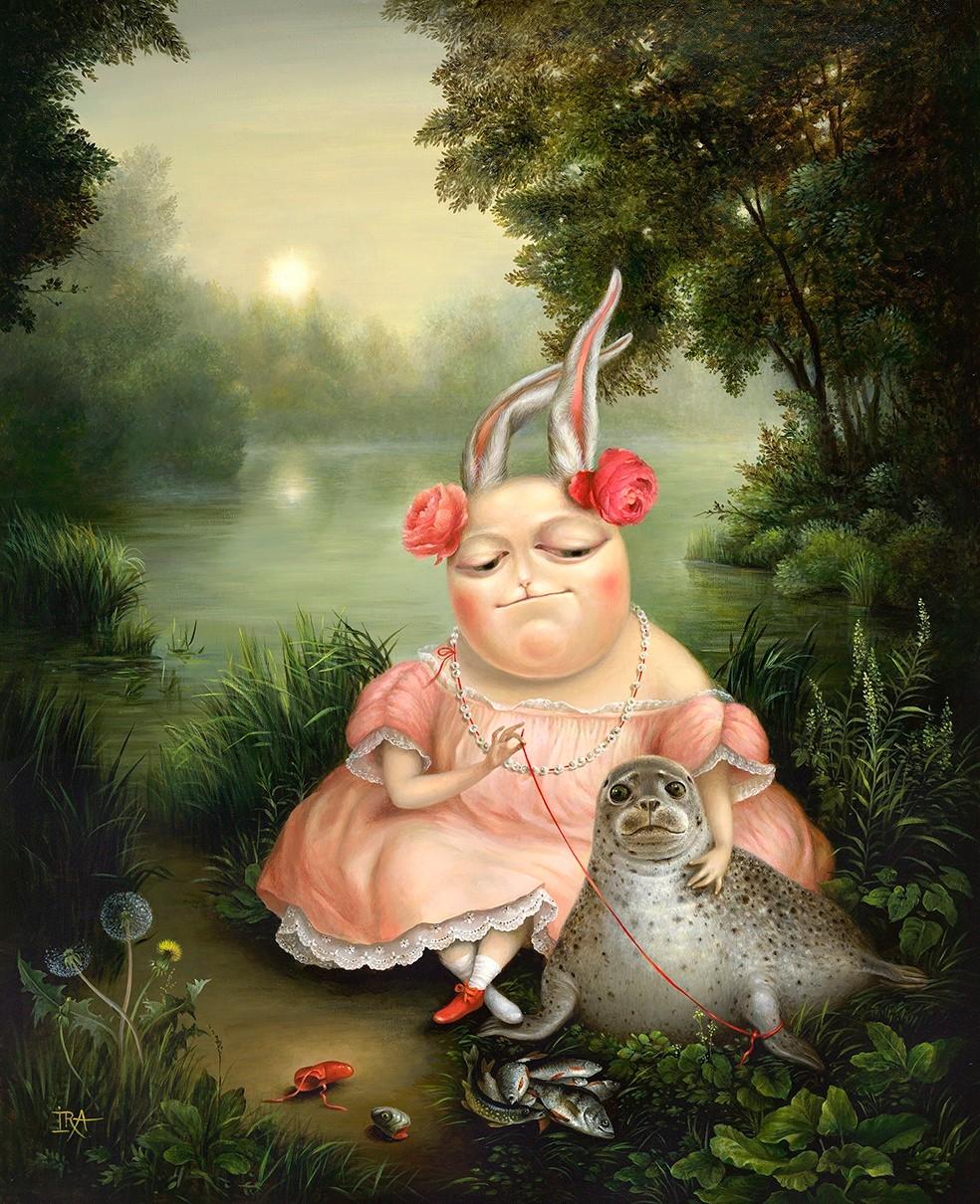 Irena Aizen - Lovely Seal . Fine Art Prints