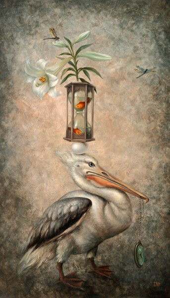 Pyramid with Pelican-2. Fine Art Prints